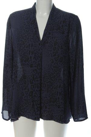 Creation L. Shirt Blouse blue-black animal pattern casual look