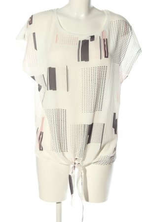 Creation L. Short Sleeved Blouse white-light grey mixed pattern casual look