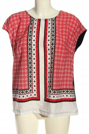 Creation L. Kurzarm-Bluse grafisches Muster Casual-Look