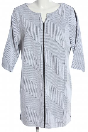 Creation L. Shortsleeve Dress white-black striped pattern casual look