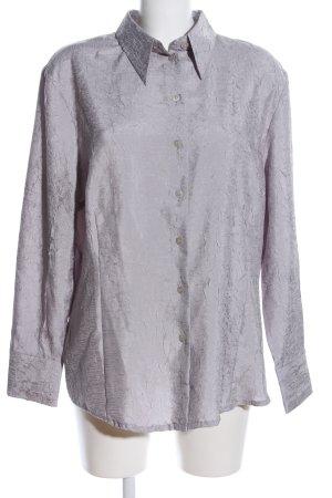Creation L. Langarm-Bluse silberfarben Elegant
