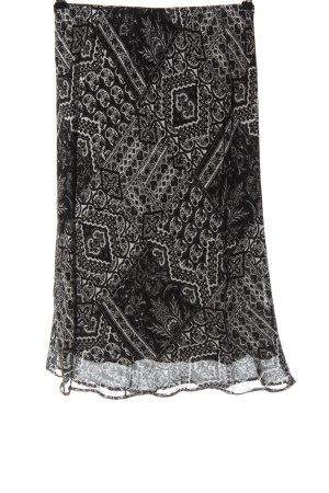 Creation L. Midi Skirt black-white abstract pattern elegant