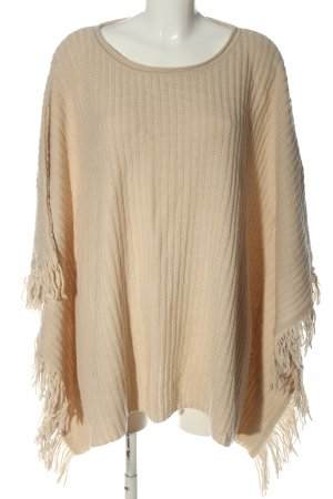 Creation L. Poncho nude casual look