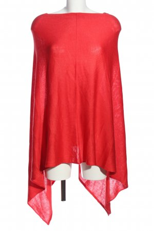 Creation L. Poncho red casual look