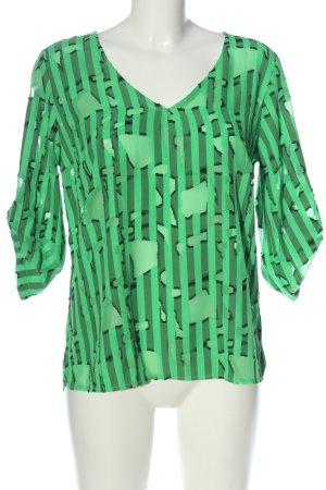Creation L. Schlupf-Bluse grün abstraktes Muster Casual-Look