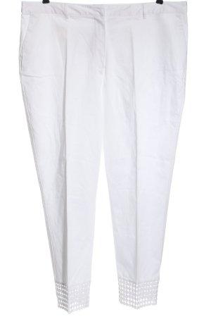 Creation L. Pantalon en jersey blanc tissu mixte