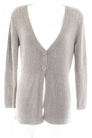 Creation L. Strick Cardigan silberfarben-beige Casual-Look