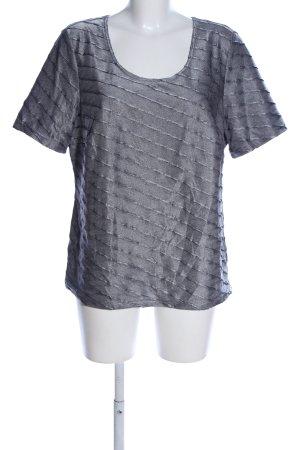 Creation L. T-Shirt hellgrau Streifenmuster Casual-Look