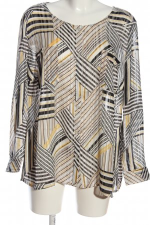 Creation L. Transparent Blouse abstract pattern casual look