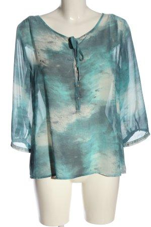 Creation L. Transparenz-Bluse türkis-weiß Farbverlauf Casual-Look