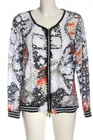 Creation L. Between-Seasons Jacket black-white abstract pattern casual look