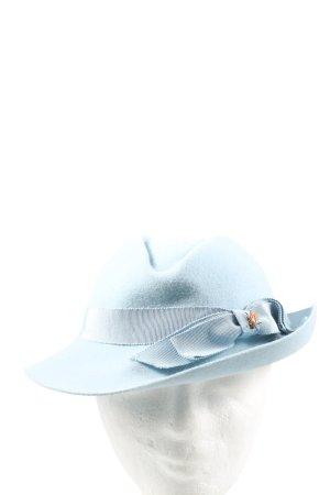Creation La Mouche Felt Hat blue-brown themed print casual look