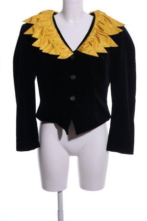 création mademoiselle Kurz-Blazer schwarz-blassgelb extravaganter Stil