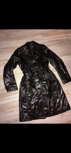 Creenstone Abrigo de cuero marrón oscuro