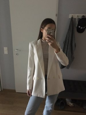 H&M Premium Boyfriend Blazer natural white-cream