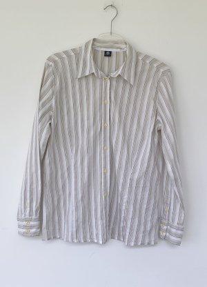Bogner Blusa de manga larga blanco puro-beige Algodón