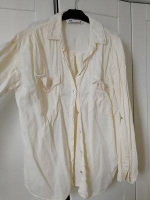 creme Hemden mit Taschen