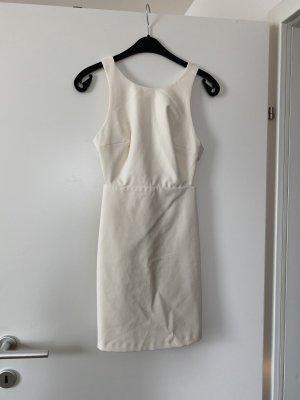 Creme Kleid mit Masche von Zara