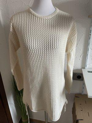 creme Longpullover / Pullover Löcher / Löcherpulli / Netzpullover von Green Cotton - Gr. 36/38