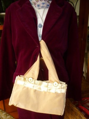 Handmade Canvas Bag gold-colored