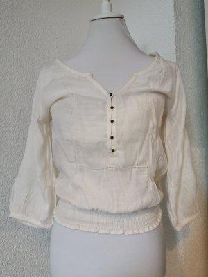 Creme-weiß Bluse
