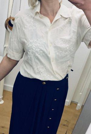 Creme -weiße klassisches Oberteil/ Bluse/ Hemd Gr. 42-44/ L-XL