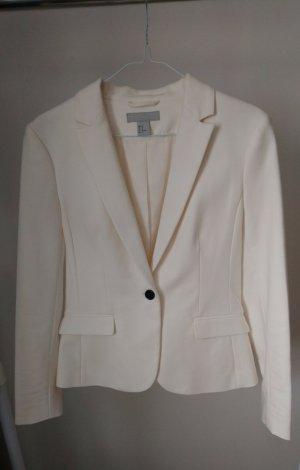 H&M Klassischer Blazer crema-blanco
