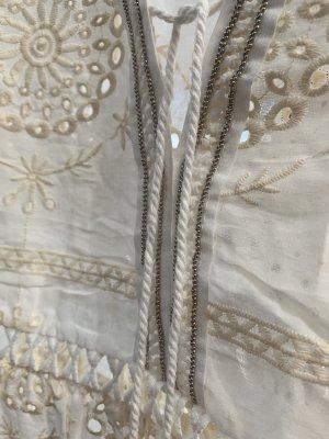 Sukienka plażowa w kolorze białej wełny-kremowy Bawełna
