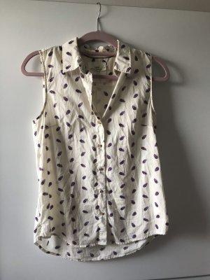 Cremefarbende Bluse