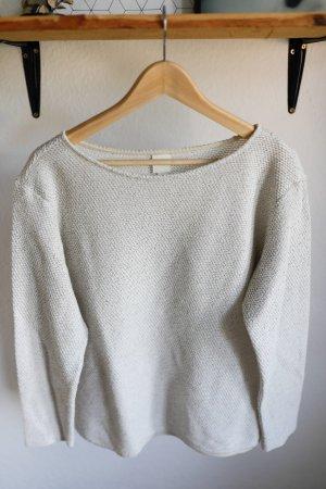 Cremefarbender Pullover