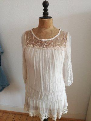 Sukienka typu babydoll kremowy