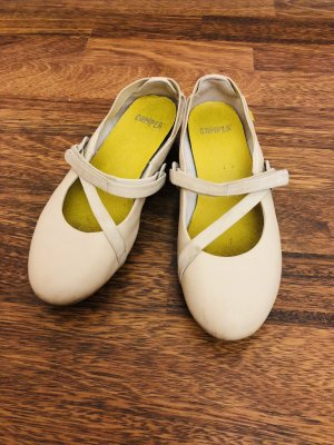 Camper Strappy Ballerinas cream-neon yellow leather