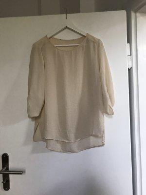 Cremefarbene Bluse Zara 3/4 arm