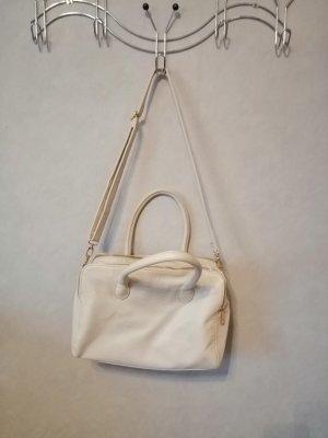 cremefarbene Handtasche
