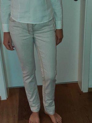 Madeleine Jeansy z prostymi nogawkami w kolorze białej wełny Bawełna