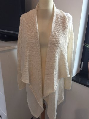 Cardigan all'uncinetto bianco sporco