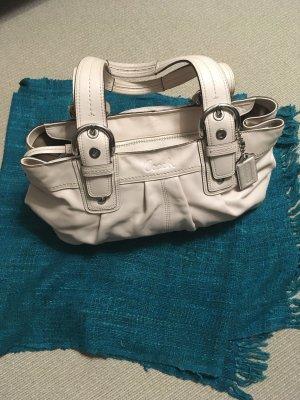 Coach Shoulder Bag cream leather