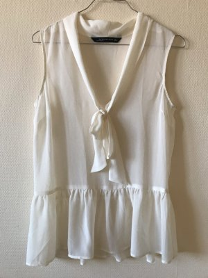Zara Blouse avec noeuds blanc cassé-crème
