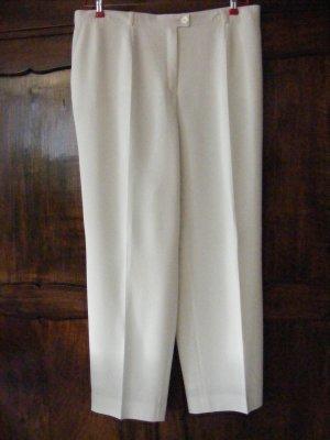 Basler Pantalon taille haute crème-blanc cassé acétate