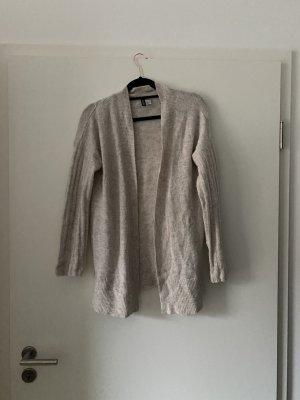 Cremefarbene Strickjacke von H&M, Cardigan, Grobstrick, Winter, Basic, Oversize