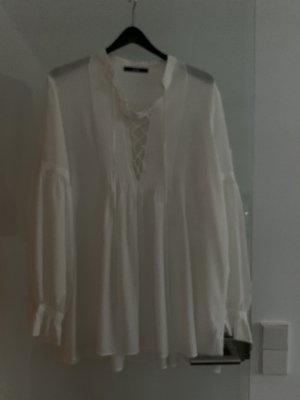 Sly 010 Blusa a tunica bianco sporco Seta