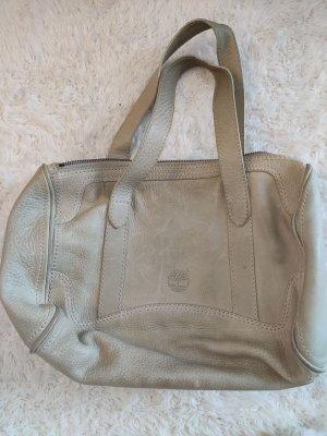 Cremefarbene Vintage Timberland Tasche aus Leder