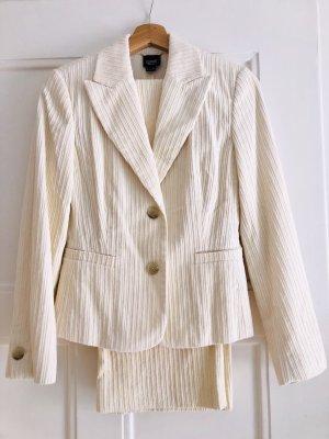 Cremefarbener Cordanzug (Jacket & Hose) von Esprit, Größe 34, ungetragen