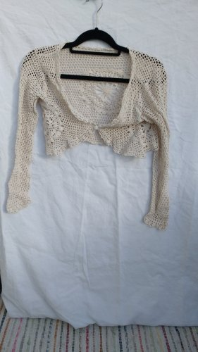 nü by staff-woman Knitted Bolero multicolored cotton