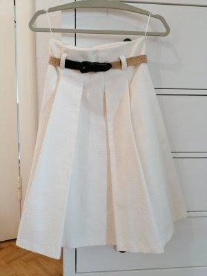 Mango Spódnica midi w kolorze białej wełny Bawełna