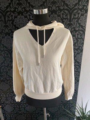 Cremefarbener Pullover / Hoodie von Na-Kd, Gr. XS