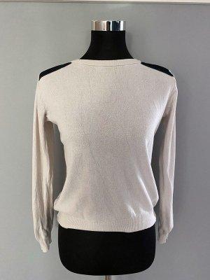 3suisses Sweter z okrągłym dekoltem czarny-jasnobeżowy