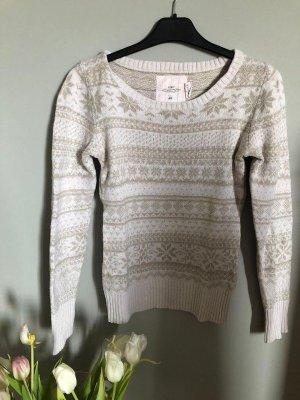 H&M Jersey estilo Noruego blanco puro-crema