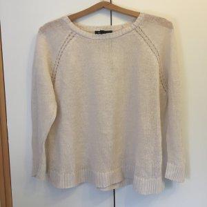 cremefarbener Pullover von Mango