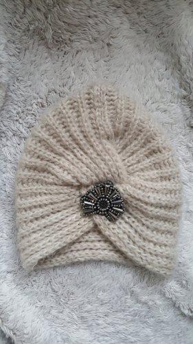 Darling Harbour Sombrero de punto color plata-crema